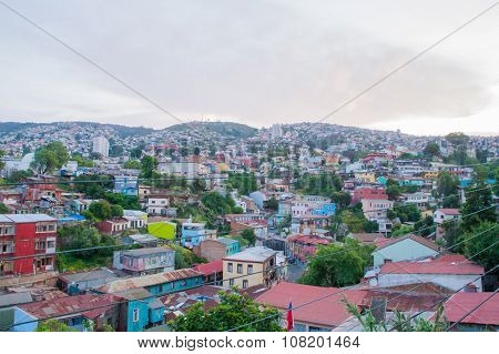 VALPARAISO - NOVEMBER 07: Street art in Concepcion and Alegre districts of the protected UNESCO World Heritage Site of Valparaiso on November 7, 2015 in Valparaiso, Chile