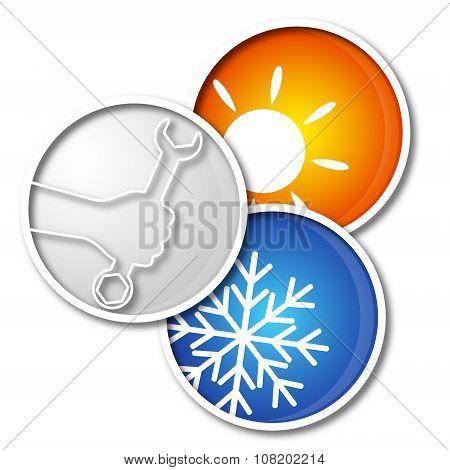 Repair air conditioner symbol