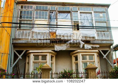 VALPARAISO - NOVEMBER 07: Street art in Concepcion and Alegre districts of the protected UNESCO World Heritage Site of Valparaiso on November 7 2015 in Valparaiso Chile
