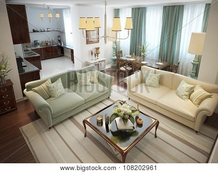 Living Room Roman Style