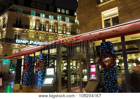 Alsace Restaurant, Paris, France.