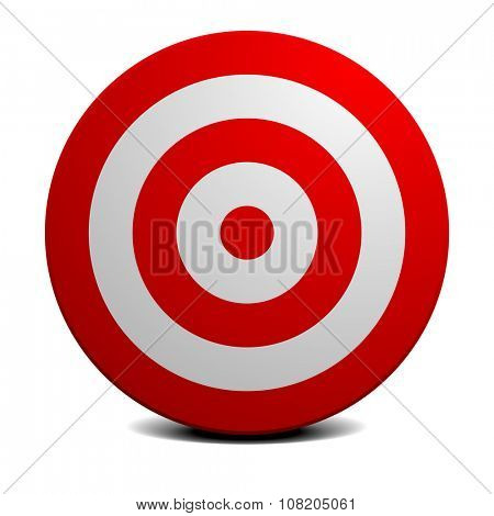 detailed illustration of an empty red and white target, eps10 vector