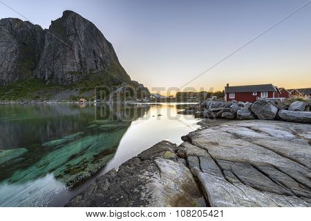 Fishing Hut (rorbu) In The Hamnoy, Lofoten Islands