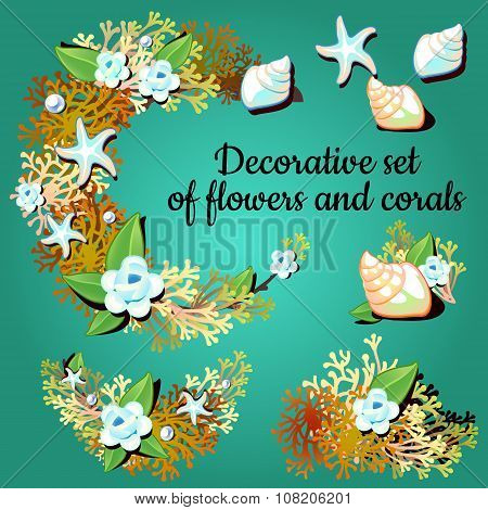 Decorative articles made of corals and colors