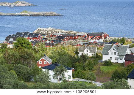 Small fishing port on Lofoten Islands