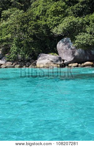 Beautiful Sea View, Clean Water At Similan Islands In Thailand.