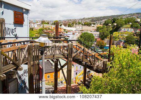 Reina Victoria funicular, Valparaiso