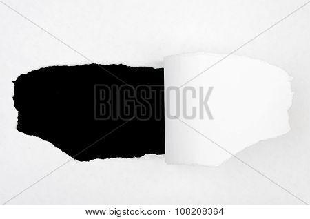 Black hole in blank paper