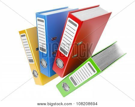 Office Folders With Documents