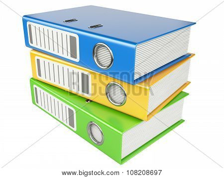 Modern Office Folders With Documents