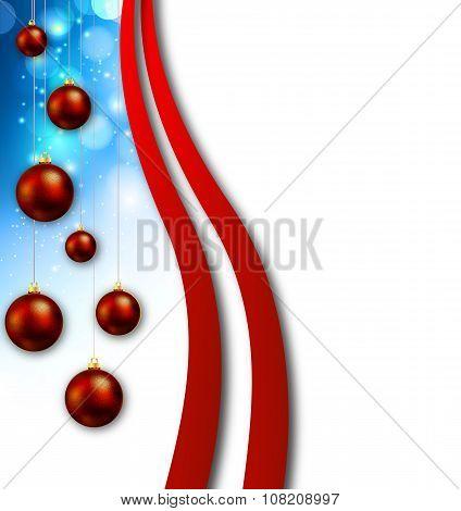 Ads With Hanging Christmas Balls