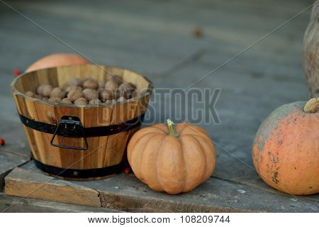 pumpkin and walnuts