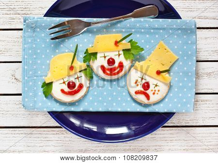 Funny cheese crackers.