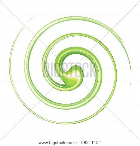 Vortex Background Green