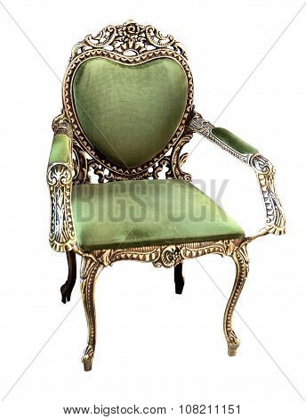 Gold Classical Style Armchair Sofa Couch In Vintage Room