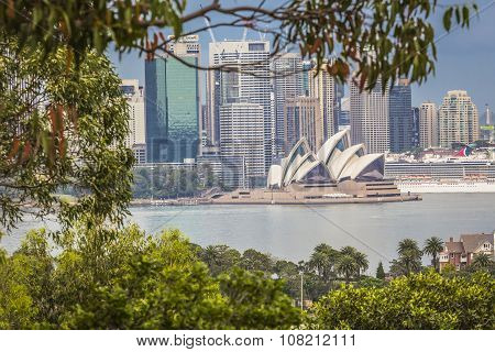 Sydney - October 25: Sydney Opera House View On October 25, 2015 In Sydney, Australia. The Sydney Op