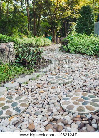 Stones Walkway In Garden