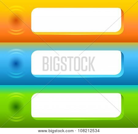 Horizontal-banner-space-for-messages-set