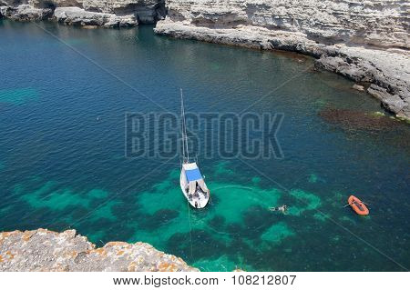 Sailboat In Lagoon