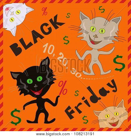 Amusing Cats Announcing A Black Friday