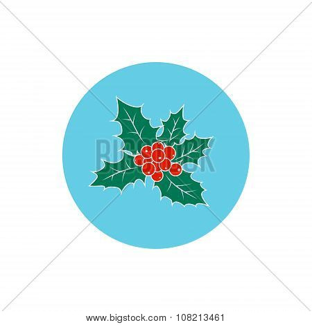 Icon Colorful Christmas Holly Berry