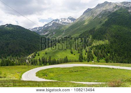 Mountain Landscape In France