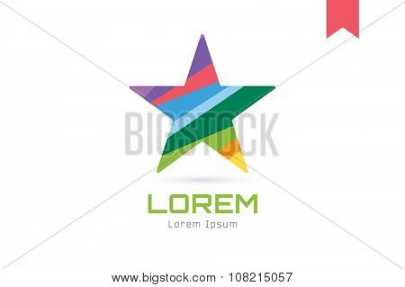 Star vector logo icon. Leader, boss, winner, rating, rank or competition and astrology symbol. Stock design element. Star icon logotype. Sport logo. Astronomy logo