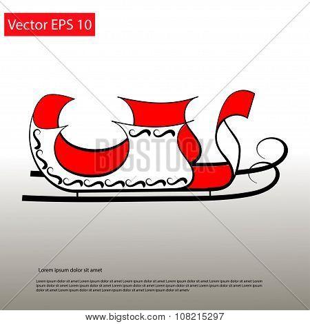 Santa Red Sledge Elegant Icon