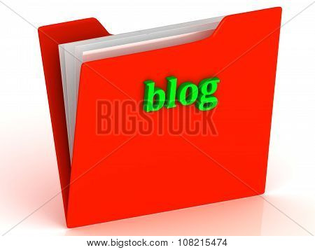 Blog - Bright Green Letters On A Gold Folder