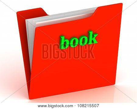 Book - Bright Green Letters On A Gold Folder
