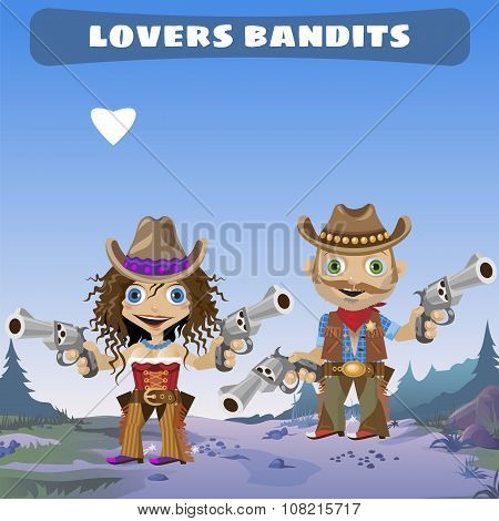 Fictional cartoon character - lovers bandits