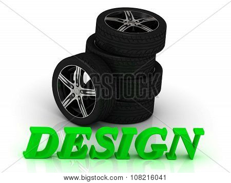 Design- Bright Letters And Rims Machine Black Wheels