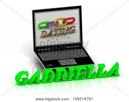 Gabriella- Name And Family Bright Letters Near Notebook