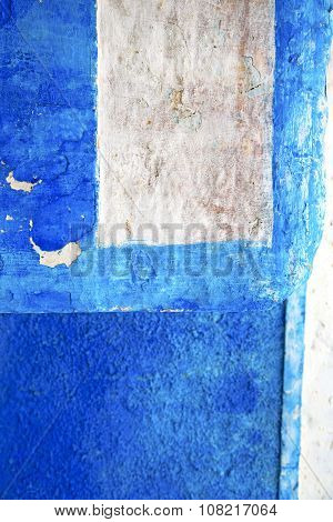 Blue  In Texture Wall And    Africa Abstract