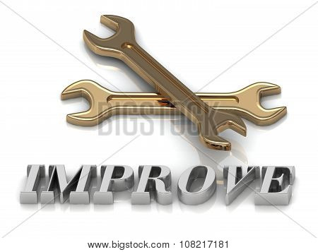 Improve- Inscription Of Metal Letters And 2 Keys