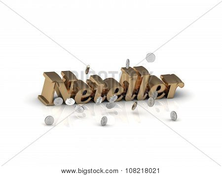 Neteller - Inscription Of Gold Letters And Silver