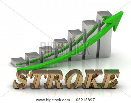 Stroke- Inscription Of Gold Letters And Graphic Growth