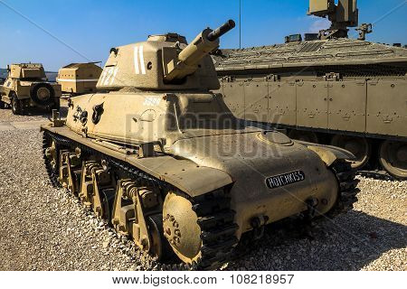French Made Hotchkiss H-39 Light Tank.   Latrun, Israel