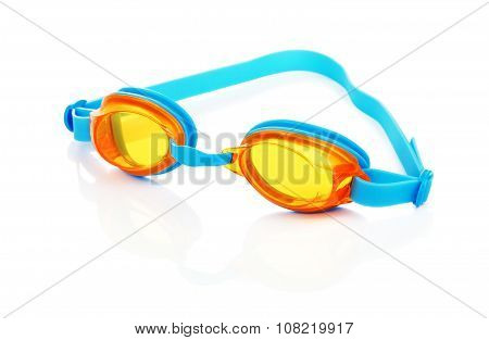 Swimming Glasses Isolated