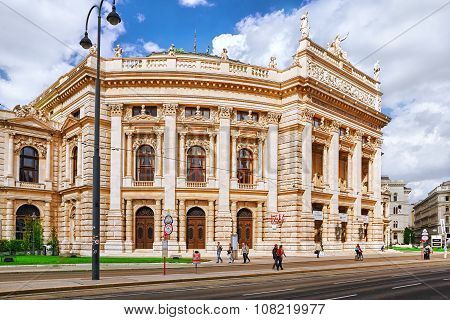 Vienna,austria-september 10, 2015: Burgtheater (imperial Court Theatre), Originally Known As K.k. Th