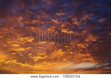 Orange Sunset Sky
