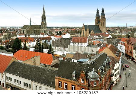 Panoramic view of Speyer, Rheinland-Pfalz, Germany