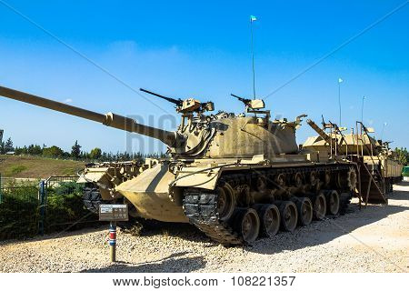 American Made M48 A3 Patton Main Battle Tank . Latrun, Israel