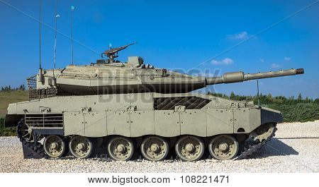 Israel Made Main Battle Tank Merkava  Mk Iv . Latrun, Israel