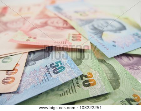Financial economic, Banknotes, Baht Thai Money Background