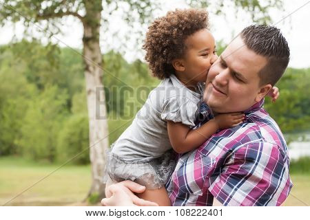 Kiss From The Girl To Her Dad