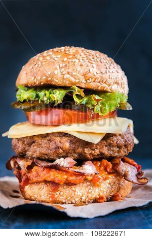 Bacon And Beef Burger