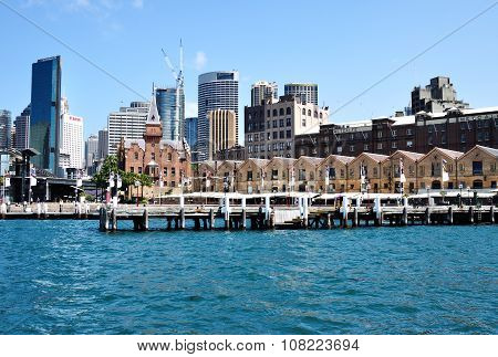 View of The Rocks District in Circular Quay