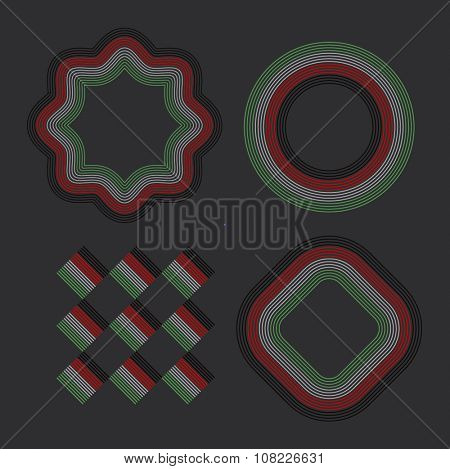 UAE National Day Celebration. Various vector design and layout elements.