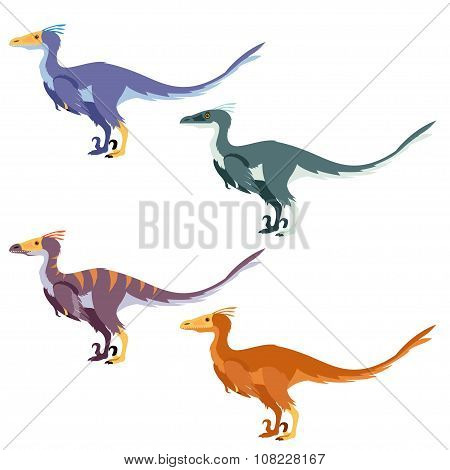 Set of raptors
